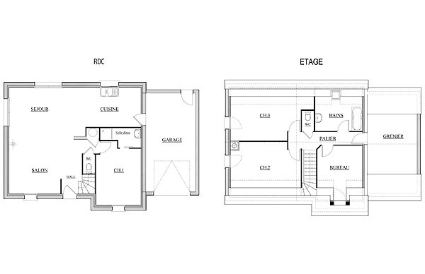 Plan de maison socoren for Plan de maison zone llc